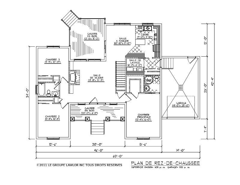 Le groupe lawlor nos plans - Plan maison californienne ...