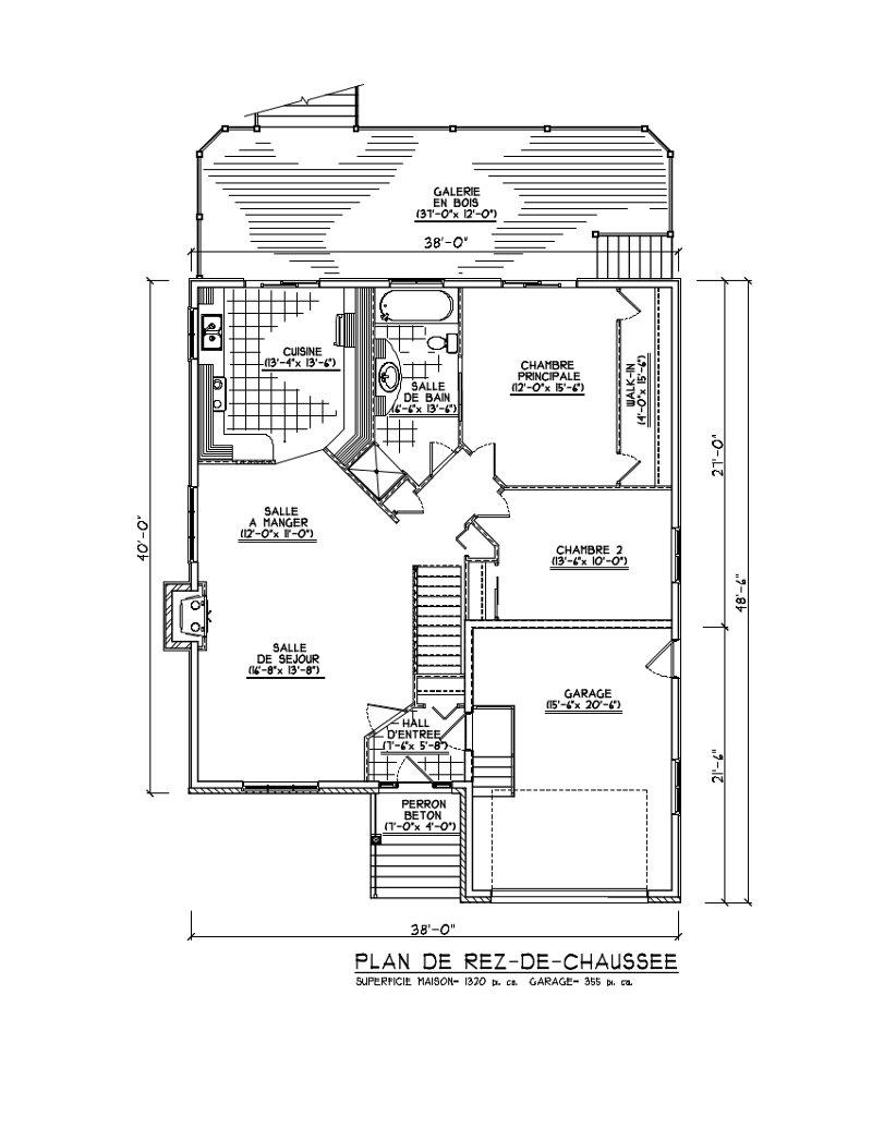 Plan petite maison 2 chambres plans de maison construire for Plan petite maison m